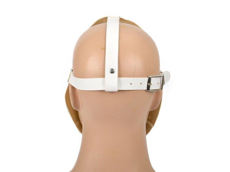 Pest masker (wit leather look)