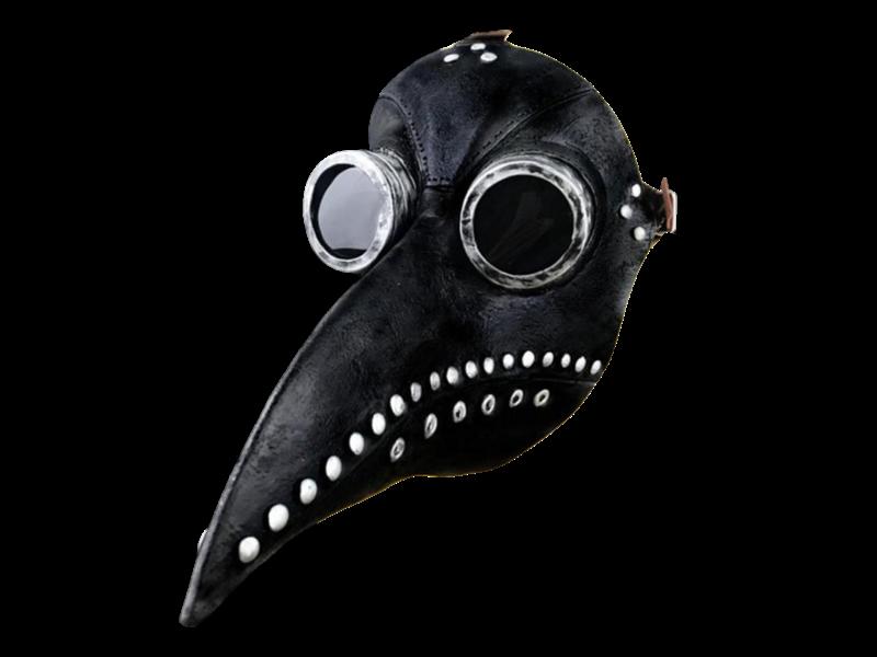 Snavel masker (Pest dokter) zwart-grijs