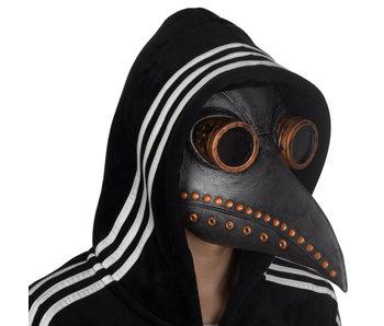 Snavel masker zwart-koperbruin