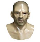 Man masker (kaal hoofd) met borststuk