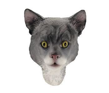 Kat/poes masker (grijs)