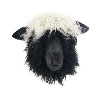 Zwartwit schaap masker (Valais)