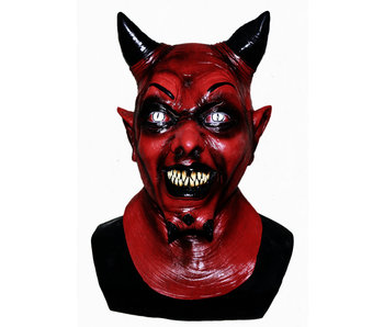 Duivel masker Deluxe (rood)