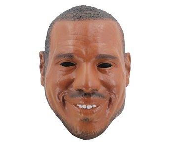 Zwarte man masker (lachend)