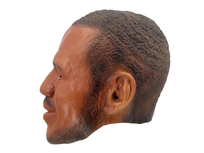 Zwarte man masker (lachend) 'Lebron James' (Celebrity)