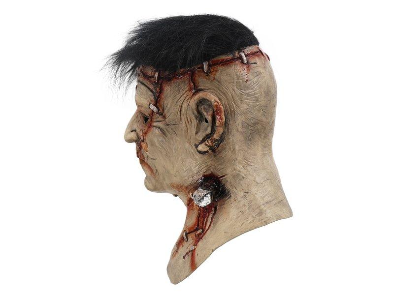 Frankenstein masker Deluxe (met zwart haar)