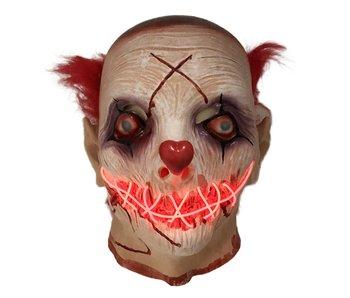 Horror Clown masker (lichtgevend LED)