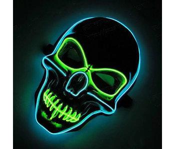 Schedelmasker (lichtgevend groen/blauw)