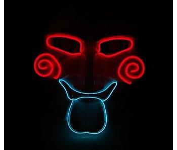 Jigsaw masker (led roodblauw)
