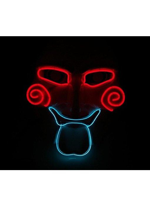 Jigsaw mask (led red blue)