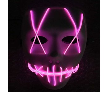 The Purge masker (el wire led paars)