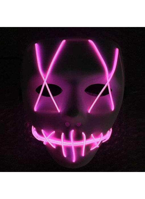 The Purge mask (el wire led purple)