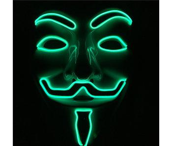 V For Vendetta mask (illuminating green)