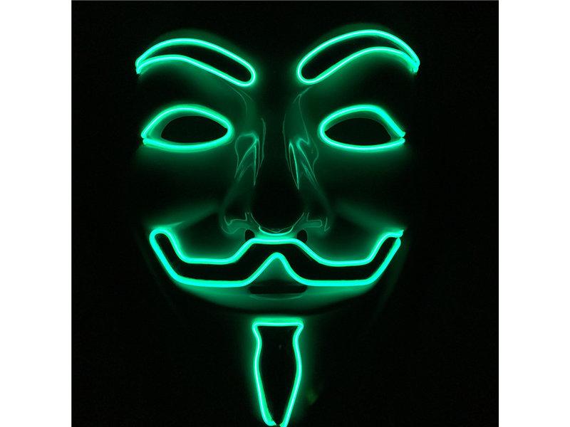 V For Vendetta masker (lichtgevend groen)
