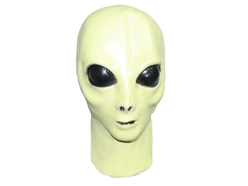 Green alien mask (glow in the dark)
