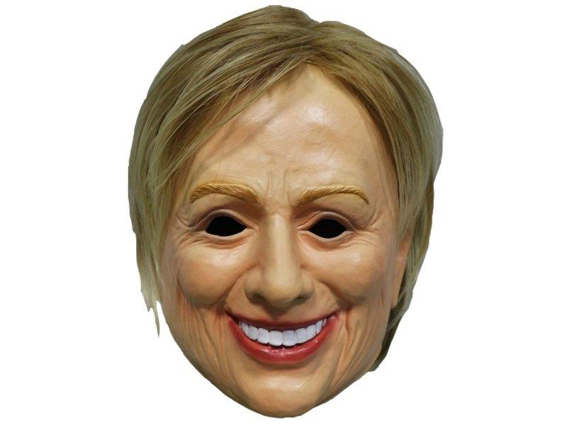 Hillary Clinton masker (vrouwenmasker met blond haar)