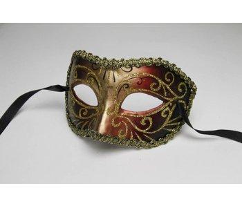 Venetiaans oogmasker 'Columbina Magico' (rood)