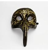 Venetiaans masker 'Pestdokter' (zwart)