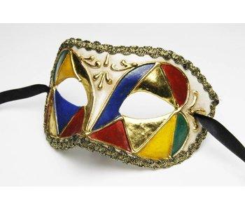 Venetian mask 'Columbina Multicolore'