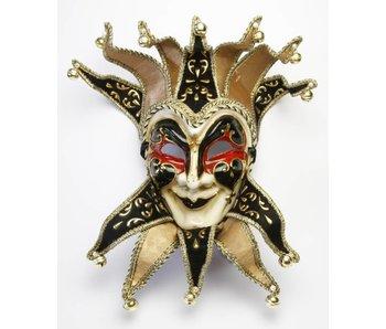 Venetian Jolly Joker mask (black/red)