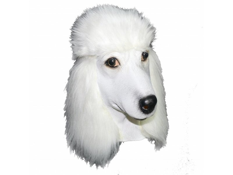 Latex dog mask 'Poodle'