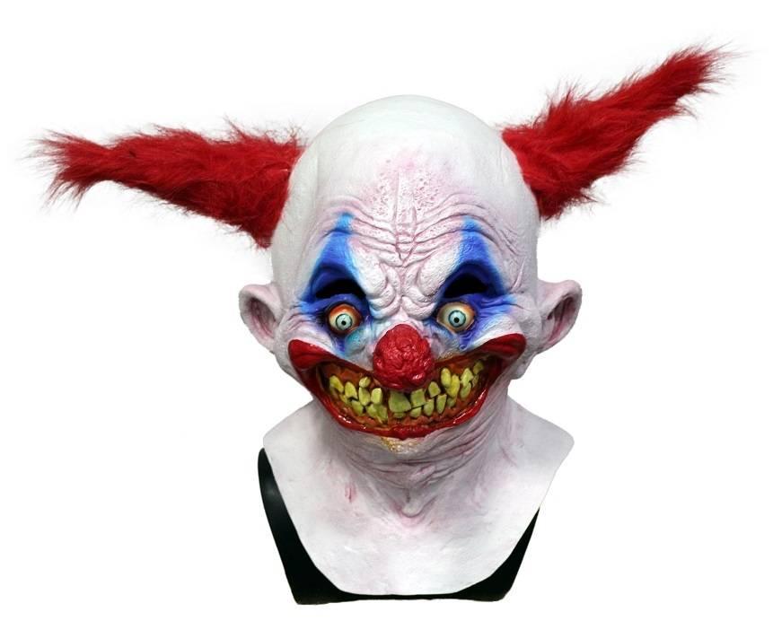 3D effetto strappato GRIN KILLER CLOWN Testa Viso Pelle Lycra Maschera Halloween