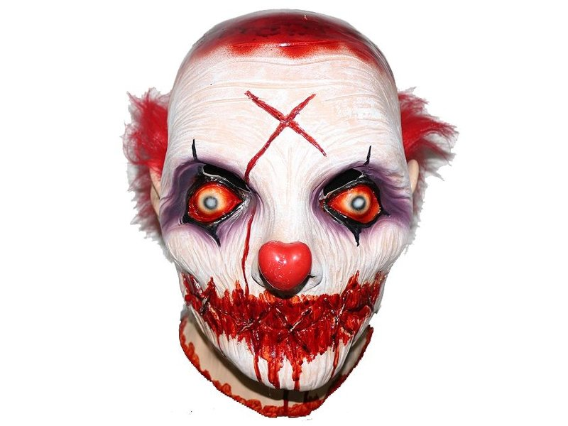 Killer Clown Mask With Shut Mouth