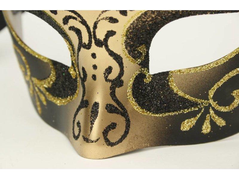 Venetiaans masker 'Columbina princessa' (goud)