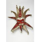 Venetiaans masker 'Jolly Joker (rood fluweel)
