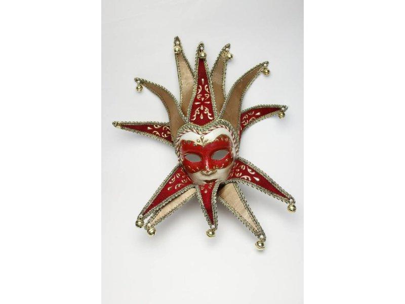 Venetian mask 'Jolly Joker' (red velvet)