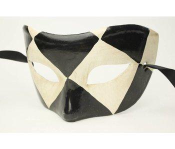 Venetian mask 'Chezz' (black and white)