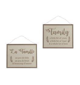 "J-Line Bord ""Family..."" / ""La famille..."""