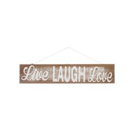 "J-Line Houten plakkaat ""Live Laugh Love"""