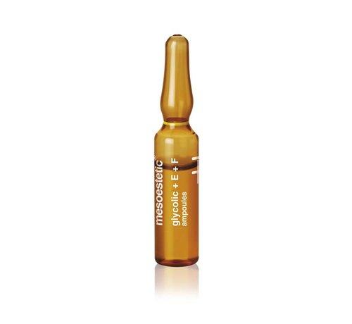 Mesoestetic Glycolic Acid 10% + vitamine E + F Ampul (10 stuks)