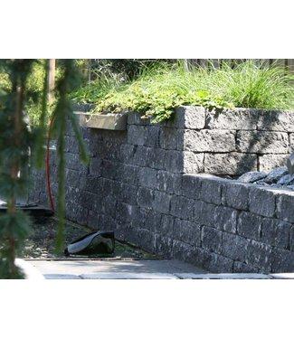 Wallblock Tumbled 30x12x12 Antraciet