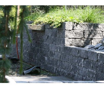 Wallblock Tumbled 30x12x12 Antraciet