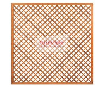 Hardhouten Trellis diagonaal scherm 180x180 cm
