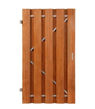 Hardhouten deur verticaal S-deur