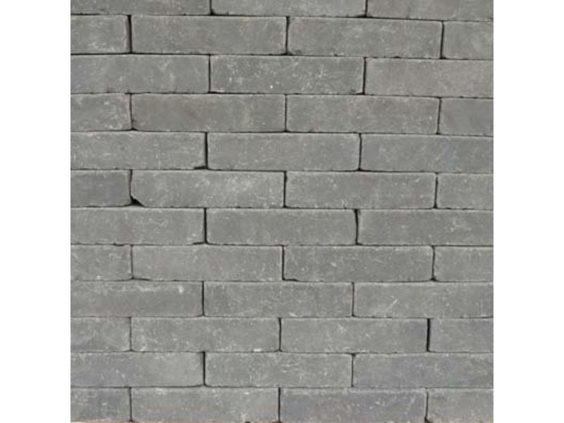 Rustiek Zwart Waalformaat Getrommeld 20x5x6,5 cm