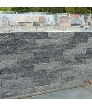 Brickwall Geknipt Grijs/zwart 30x10x6 cm