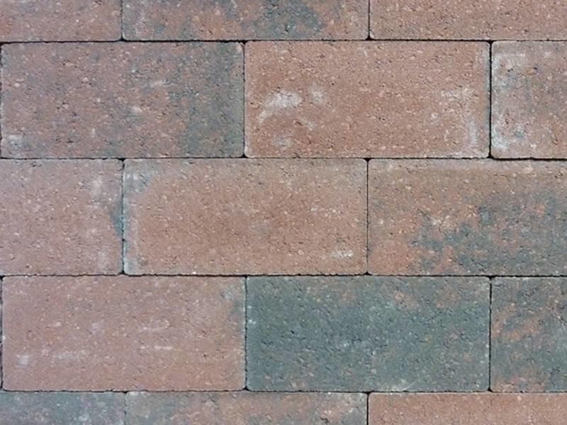Keiformaat Rood/zwart strak 21X10,5x7 cm