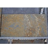Multicolor slate gecalibreerd br 60x60x2,5 cm