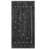 Roermond deur stalen frame 200x100 cm zwart gespoten met slot