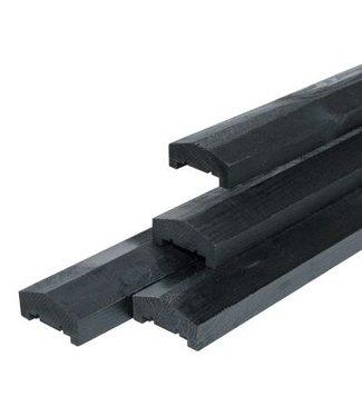 Afdeklat Roermond zwart gespoten 180 cm