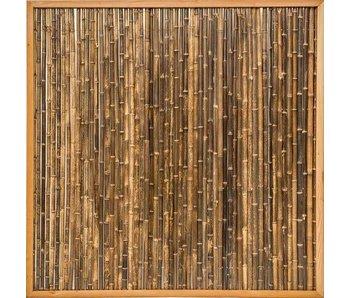 Bamboescherm in Douglaslijst 186x186 cm