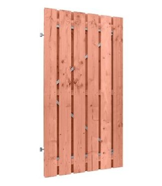 Douglas deur op stalen frame met planken