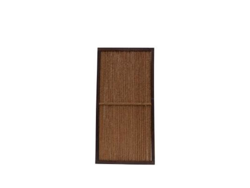 Kokosscherm in houten frame