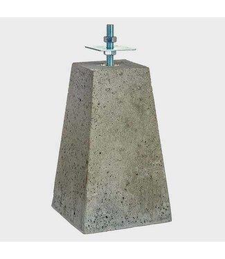 Betonpoer grijs met verstelbare steun draadeind M20