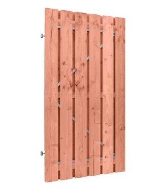 Douglas Aplen deur op stalen frame met planken