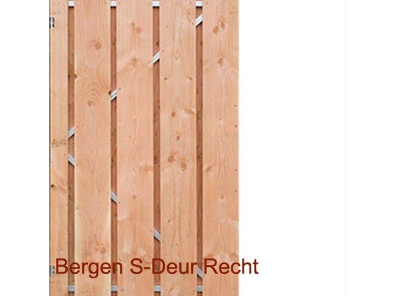 Bergen Recht Scherm / Deur Douglas hout blank
